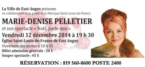 Concert East-Angus - Marie-Denise Pelletier