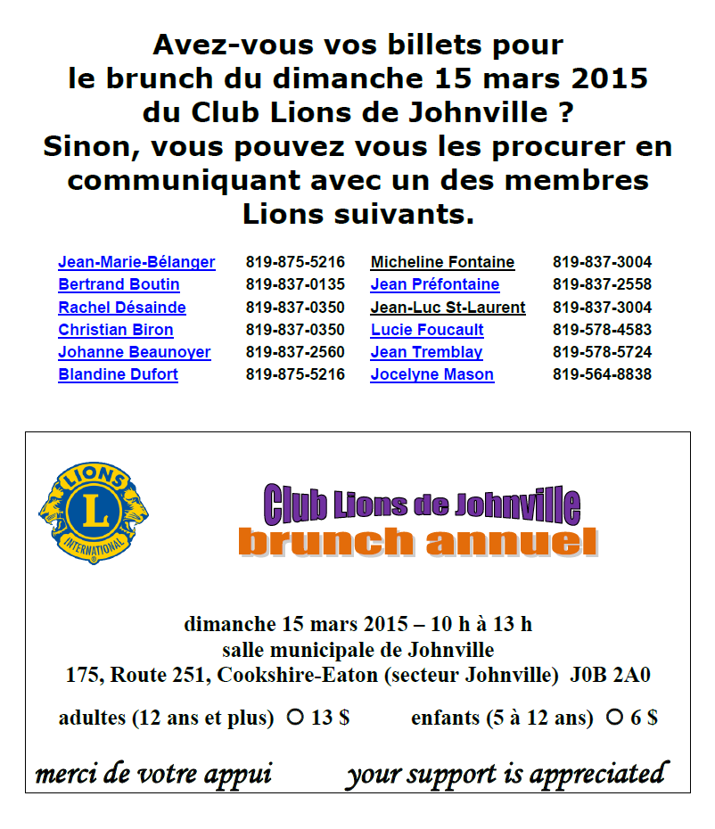 Brunch annuel_Club Lions de Johnville 2015
