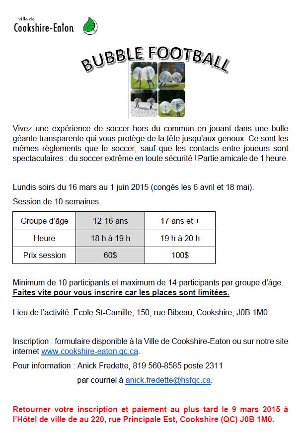 Bubble Football_Publicité