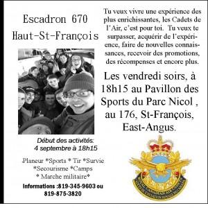 Escadron 670 Haut-St-François 2015