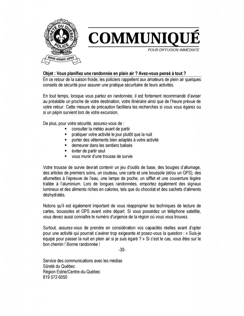 2015-10-01_Communique_SecuriteExcursionsRadonnees