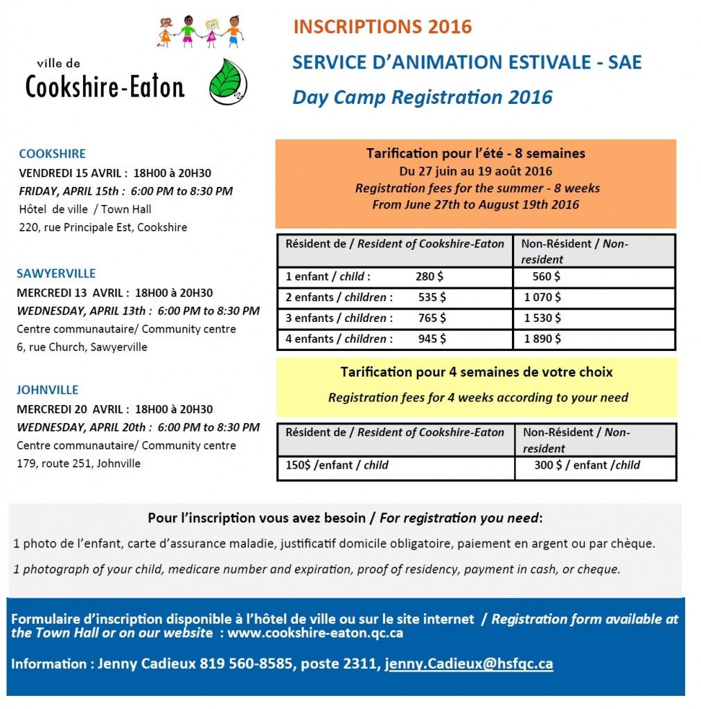 inscriptions SAE 2016