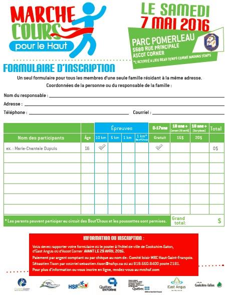 marche cours page 2 formulaire