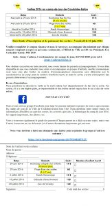 Info sorties SAE 2016