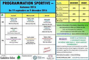 2016-08-25 Programmation sportive automne 2016 Journal Une demie page couleur