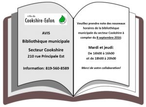 2016-08-30 Pub biblio Cookshire journal Un quart de page nb