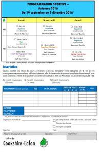 Page 2 formulaire inscription automne 2016