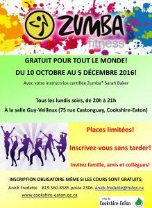 2016-10-04 Pub zumba GRATUIT automne 2016