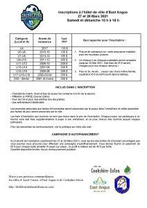 Formulaire d inscription Dribbleurs 2021