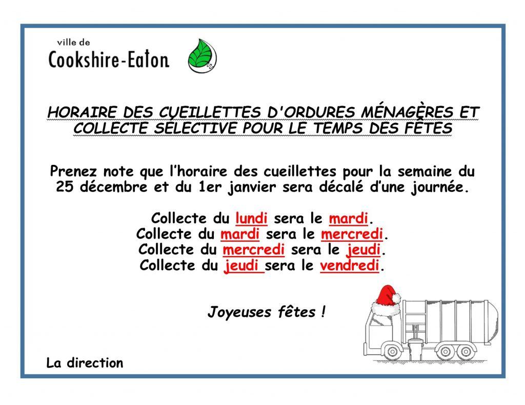 Horaire cueillettes fêtes 2017-2018_FR