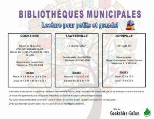 Bibliothèques coordonnées et horaire