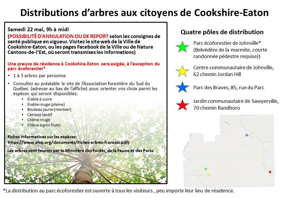 Distributions d'arbres aux citoyens de Cookshire-Eaton